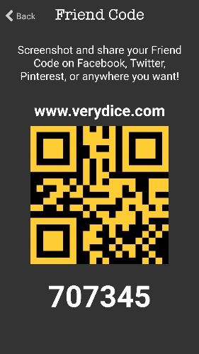 Verydice friend code