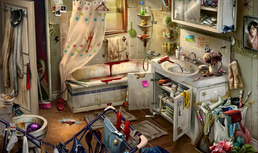 Criminal case case 2 corpse in a garden dirty for Bathroom scenes photos